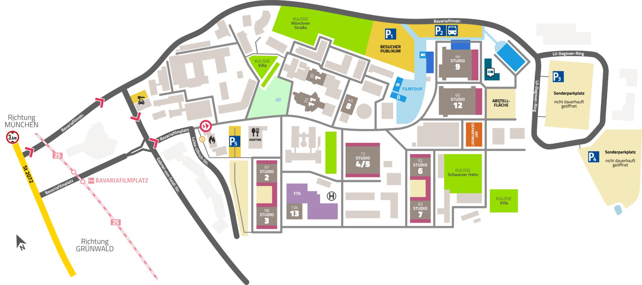 Anfahrt Und Geländeplan Bavaria Studios