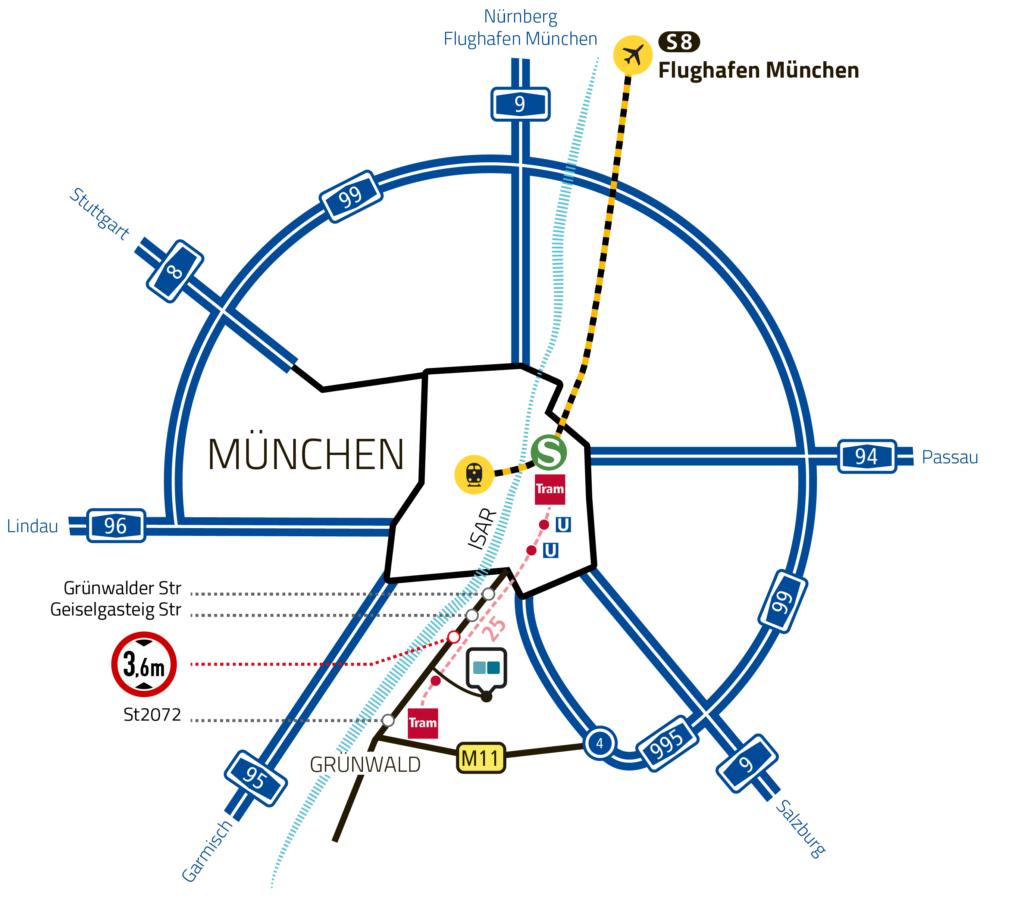 Mvv Zonen Karte.Anfahrt Und Gelandeplan Bavaria Studios